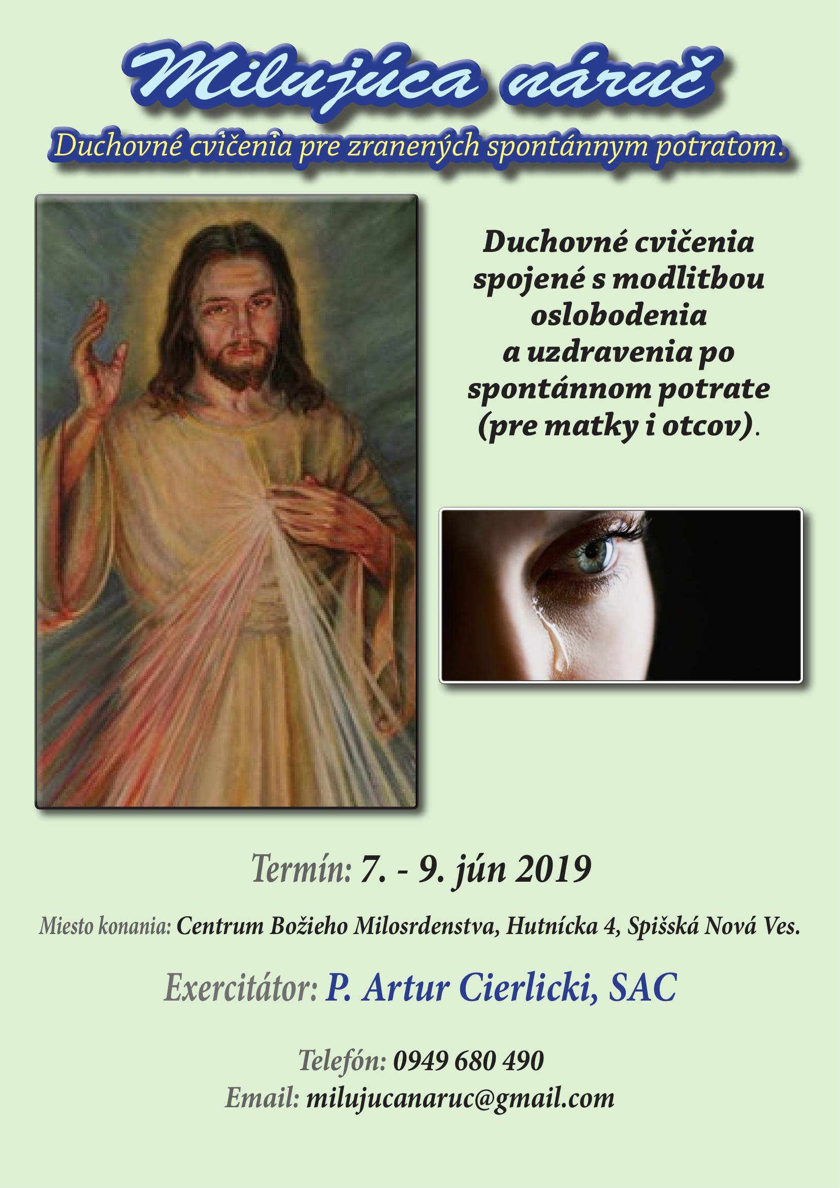 Milujúca náruč - Duchovné cvičenia 7-9 jún 19-1